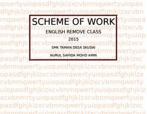 Scheme of Work Bi Peralihan 2015