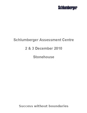 Schlumberger Assessment Centre Stone House December 2010[1]