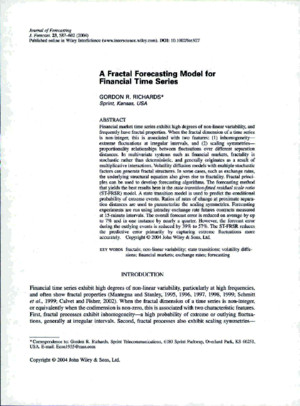 A Fractal Forecasting Model for Financial Time Seriespdf