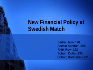 A New Financial Policy at Swedish Match Case Solution