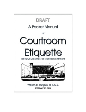 A Pocket Manual of Courtroom Etiquette (First Draft)