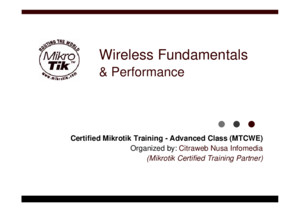 01 MTCWE Wireless Fundamentals