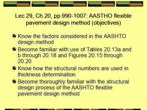 AASHTO Method of Flexible Pavement Design