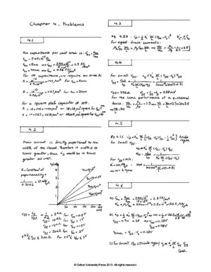 Sedra Smiths Solutions Problems Chapter4