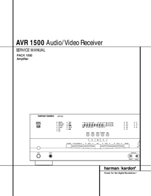 Service Manual Harman Kardon AVR-1500