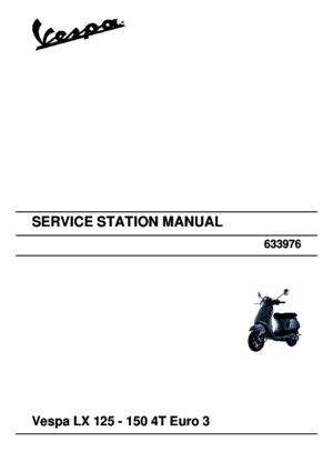 Service Station Manual Vespa Lx 125 - 150 4t Euro 3