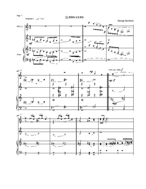 (Sheet Music - Piano) Gershwin - Summertime