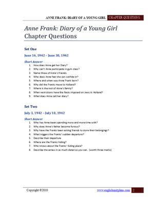 Short Answer Anne Frank