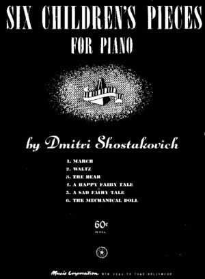 Shostakovich Op 69 Six Children s Pieces for Piano