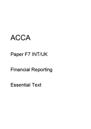ACCA F7 Essential Text 2012