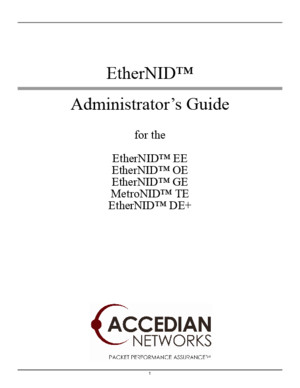 Accedian NID User Manual