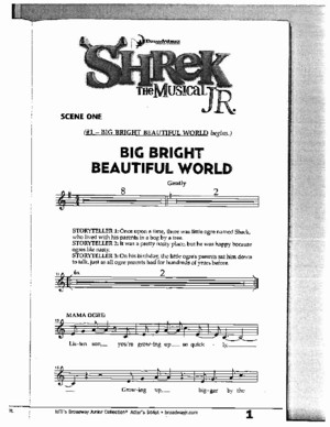 Shrek the Musical Junior Script