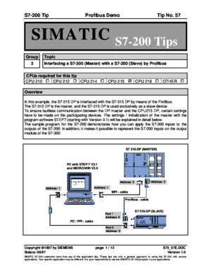 Simatic S7200 Application TIPS