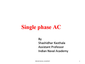 Single Phase AC
