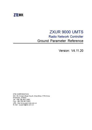 SJ-20120319104909-008-ZXUR 9000 UMTS (V4[1]1120) Ground Parameter Referencepdf
