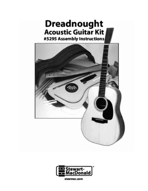 Acoustic Guitar Building Instructions