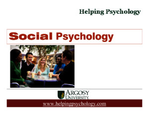 Social Psychology ppt