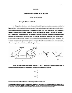 [Solution Chapter 6] Callister Materials Science and Engineering an Introduction 7e Solutions Manual