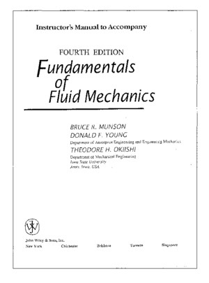 Solutions Manual Fundamentals of Fluid Mechanics 3Rd and 4Th Edition
