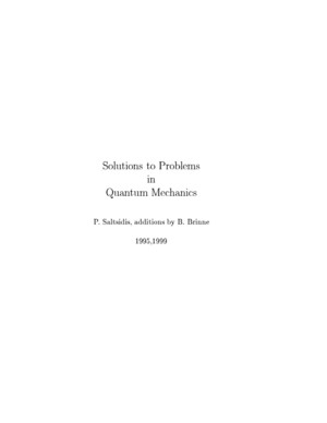 Solutions to Problems in Sakurai s Quantum Mechanics - P Saltsidis B Brinne
