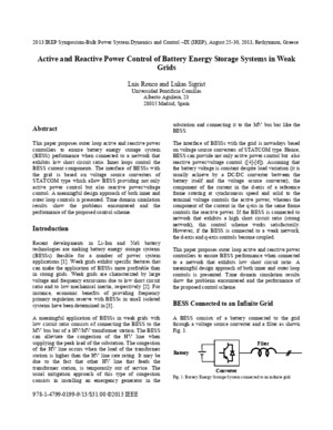 Active and reactive power control of battery energy storage systems in weak gridspdf