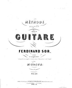 Sor and Coste Guitar Method