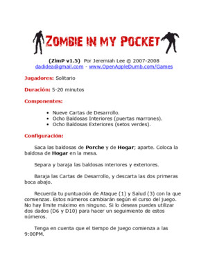 Spanish Rules zombie in the pocket