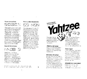 Spanish Yahtzee Rules