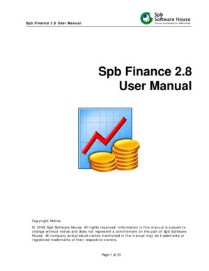 Spb Finance 28 User Manual
