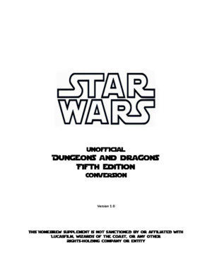 Star Wars - DD 5th Edition Conversion (PF)