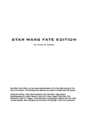 Star Wars Fate Edition