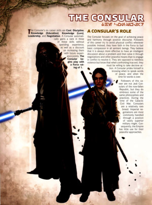 Star Wars RPG - Force and Destiny - Career Folio - Consular