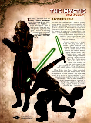 Star Wars RPG - Force and Destiny - Career Folio - Mystic