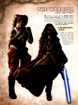 Star Wars RPG - Force and Destiny - Career Folio - Warrior