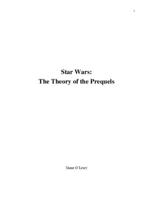 Star Wars: Theory of the Prequels
