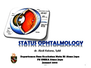 Status Ophtalmology