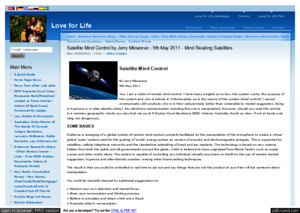Strahlenfolter - Satellite Mind Control by Jerry Mlinarevic - 9th May 2011 - Mind Reading Satellites - Loveforlifecom