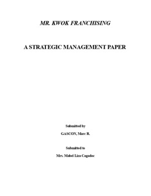 Strategic Management - Case Study