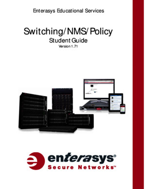 Switching NMS and Policy Boot Camp Student Guide v171r