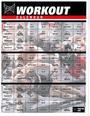 TapouT XT - Workout Calendar