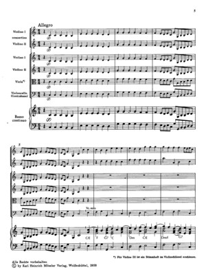 Telemann Concerto 2 Vl and Strings Score