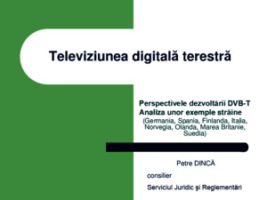 Televiziunea digitala terestra