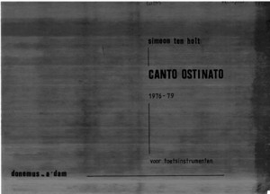 Ten Holt, Simeon -- Canto Ostinato - Sheetmusic - Minimal Music - Only Piano - Scan