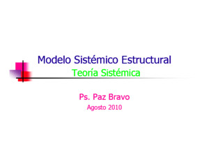 Terapia Familiar Estructural