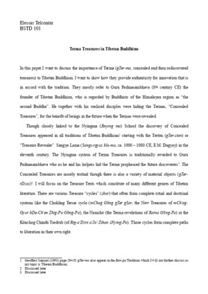 Terma Treasures in Tibetan Buddhism