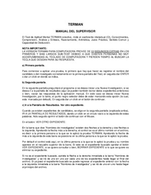 terman merril Manual Del Supervisor
