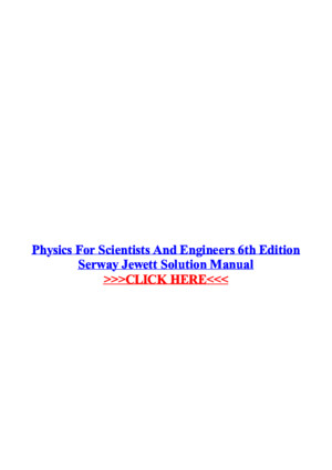 Test Bank for Physics for Scientists and Engineers 9th Edition Serway
