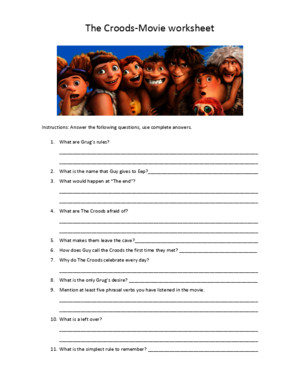 The Croods-Movie Worksheet