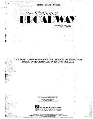 The Definitive Broadway Collection (Songbook)