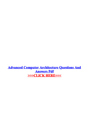 Advanced Computer Architecture Questions and Answers PDF(1)